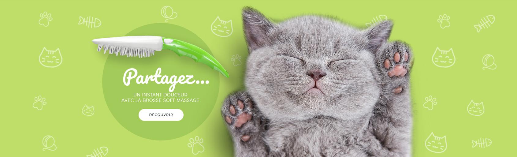 Partagez un instant douceur avec la brosse soft massage